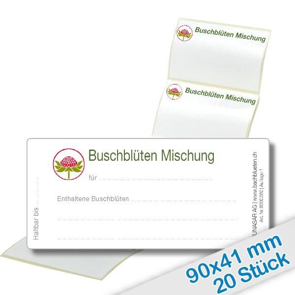 20er Pack Etiketten Buschblüten Mischung
