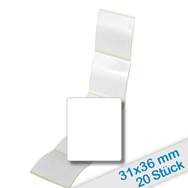 20er Pack Etiketten 31x36mm zum Beschriften