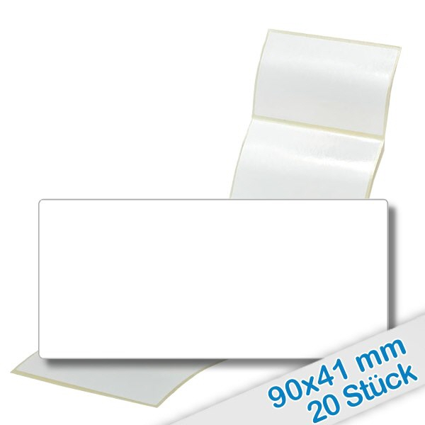 20er Pack Etiketten 90x41mm zum Beschriften