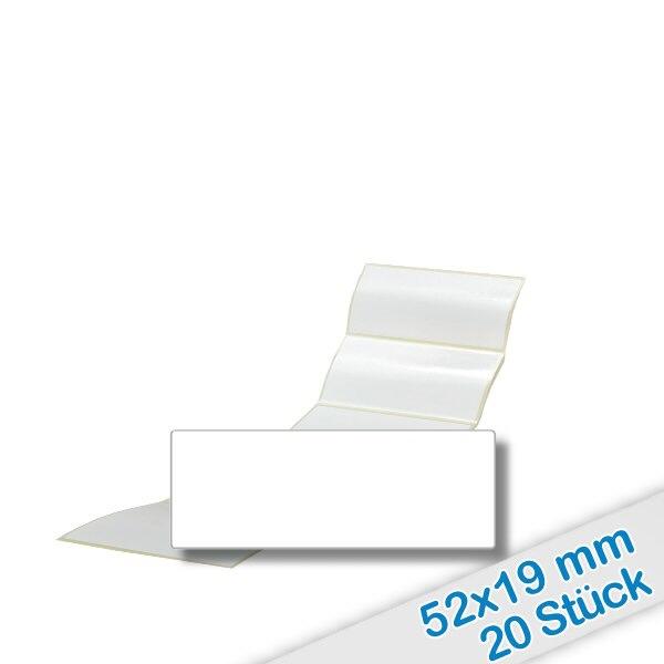 20er Pack Etiketten 52x19mm zum Beschriften